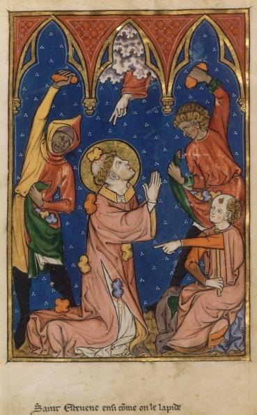 Saint Etenne Protomartyr dans images sacrée martyre-de-saint-etienne